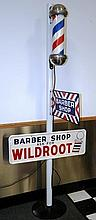 Fantastic Barber Pole with 2 Signs- Working!