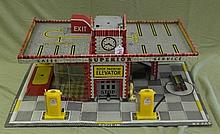 Tin Litho Garage Play Set by T Cohn designed by Lola Frank