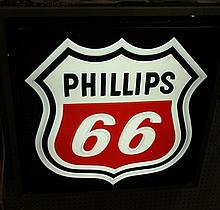 Phillips 66 Light up shield sign
