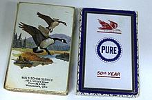 Pure Oil 50th Year Playing cards and Mel's Sohio Service Playing Cards