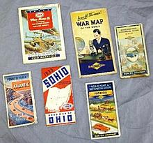 Lot of 6 Service Station Maps/War Maps-