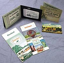 Lot of Cities Service  Mail Advertising and Sinclair Station Maps