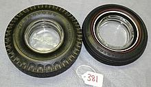 Firestone Tubeless and Master Royal Tire Ashtrays