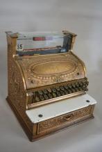 1897 Brass National Cash Register with Keys