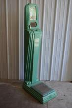 Green Porcelain Coin Operated Scale with Health Chart
