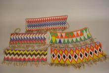 5 Native American or African Glass Bead  Waist Belts
