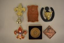 Group of Cub and Boy Scout Plaques and Other Decorative Items