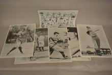 Group of Remington Fire Arms Printing of Vintage Posters of New York Yankees Baseball Players