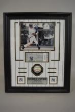 Derek Jeter Photo, 2011 Ticket and Baseball Commemorating Jeter's 3000th Hit
