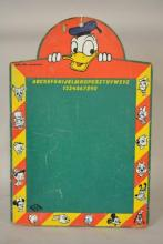 Early Walt Disney Donald Duck Masonite Chalkboard