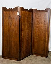 American Three Panel Wood Screen