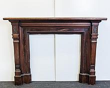English Walnut Half Mantel