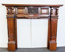 English Rose Wood Victorian Half Mantel