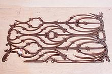 American Art Nouveau Cast Iron Pannel