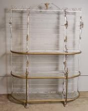 French  Wrought Iron Bakers Shelf