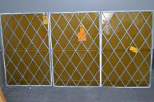 Lot of Three American Leaded Windows