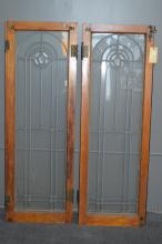 Lot of Two American Leaded and Beveled
