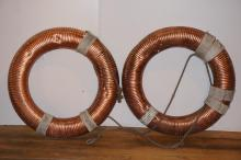 Lot of Two English Copper Life Rings