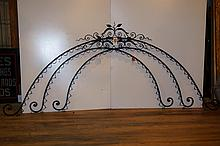 Lot of Three American Wrought Iron Arches