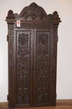 American Heavily Carved Cabinet