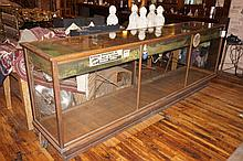 American Oak & Glass Display Case