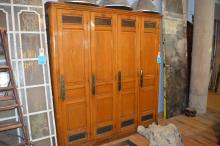 French Set of Wooden Lockers