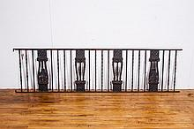 Antique American Iron Railing Section