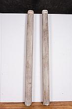 Pair of American Fluted Columns