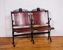 Antique American 2-Seat Folding Chair Section