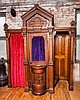 Antique American Heavily Carved Confessional
