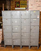 Vintage Set of American Lockers