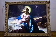 Vintage American Light Up Jesus Picture