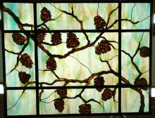 Bogenrief Pine Cone Stained Glass