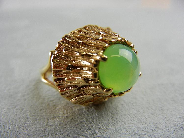 14K Lime Linde Star Ring, 7.1g