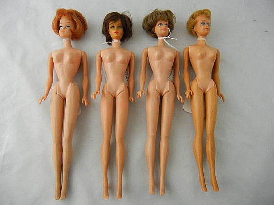 6- Vintage Barbie and Midge Doll Lot