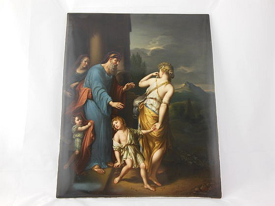 Masterpiece KPM Plaque, Signed R. Gunther Dresden, 15x12