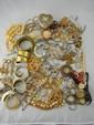 Large Lot of Costume Jewelry w/ Heart Box