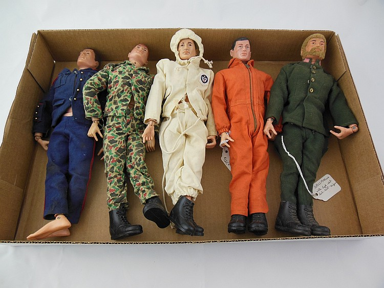 5- Assorted 1960's GI Joe's
