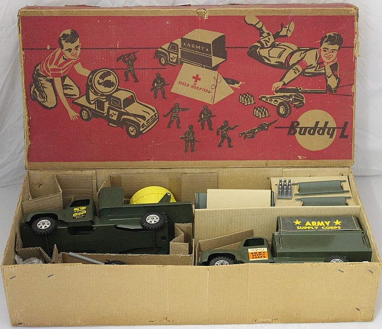 "Buddy L Army Field Hospital Toy Set ""Mint in Box!"""