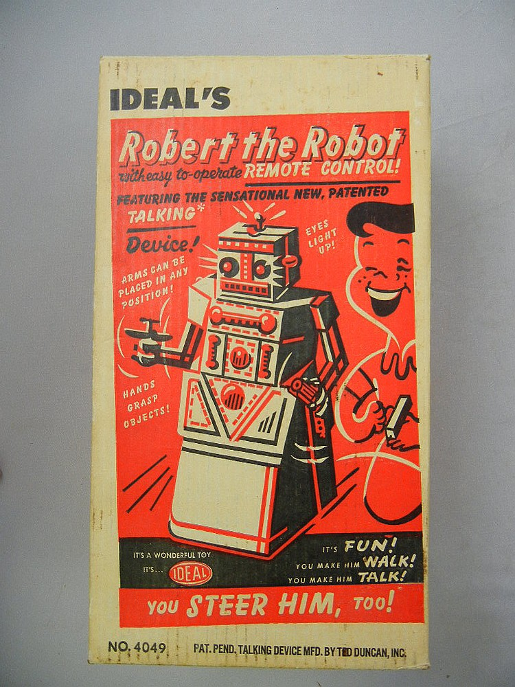 Ideal Robert the Robot w/ Remote Control and Box