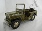 2- Tonka Military Jeeps, 1 w/ top and 1 w/o top