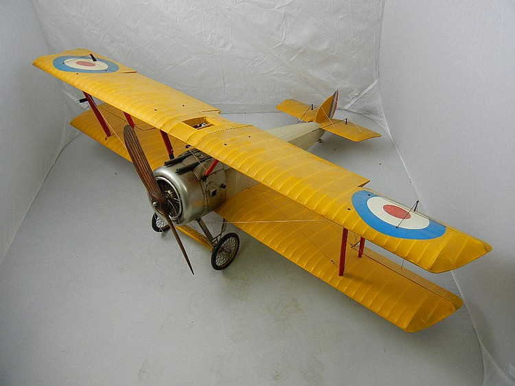 Vintage Military Gas Powered Bi-Plane