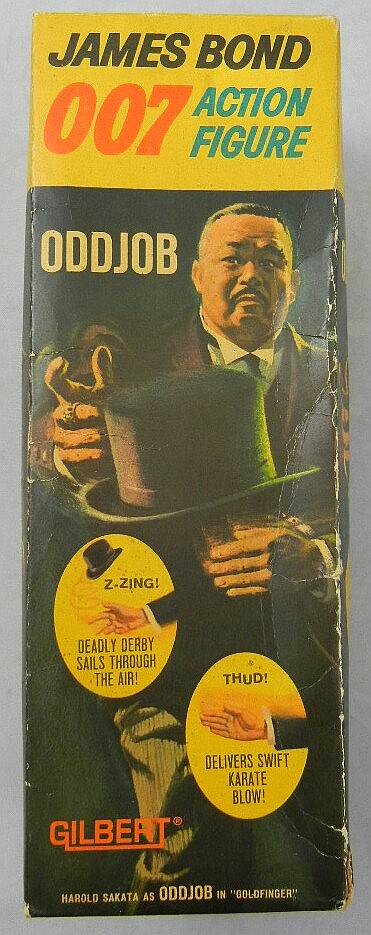 "1965 Gilbert James Bond 007 ""Odd Job"" Action Figure MIB"