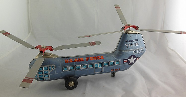 US Air Force Tin Friction Helicopter