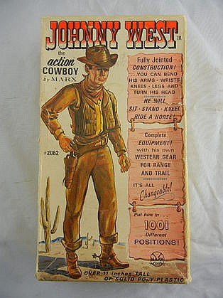 Vintage Marx Johnny West Action Cowboy w/ Box