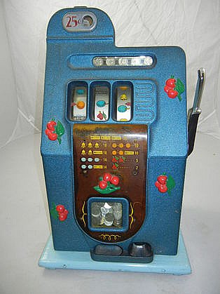 1910 Mills Bell Fruit Gum 25 Cent Slot Machine