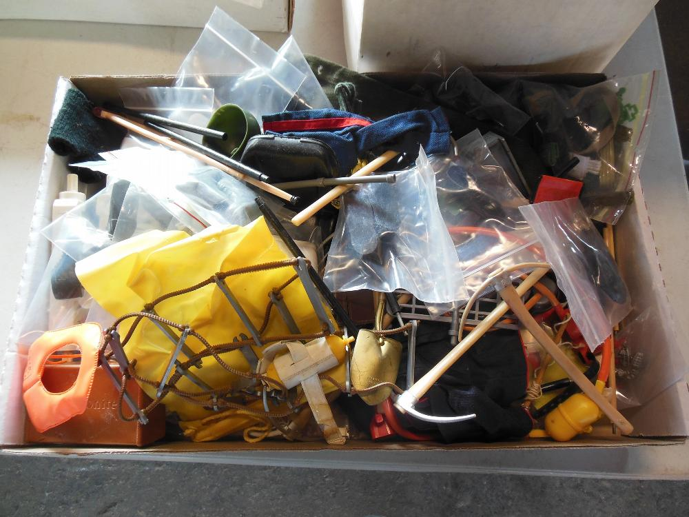 Box of Misc. GI Joe Accessories
