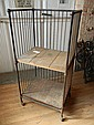 American industrial 2-shelf rolling cart with metal cage sides