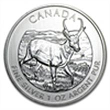 1 oz Silver Canadian Wildlife Series - Pronghorn Antelo