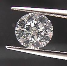 GIA CERT. 0.70 CTW ROUND DIAMOND G/SI2